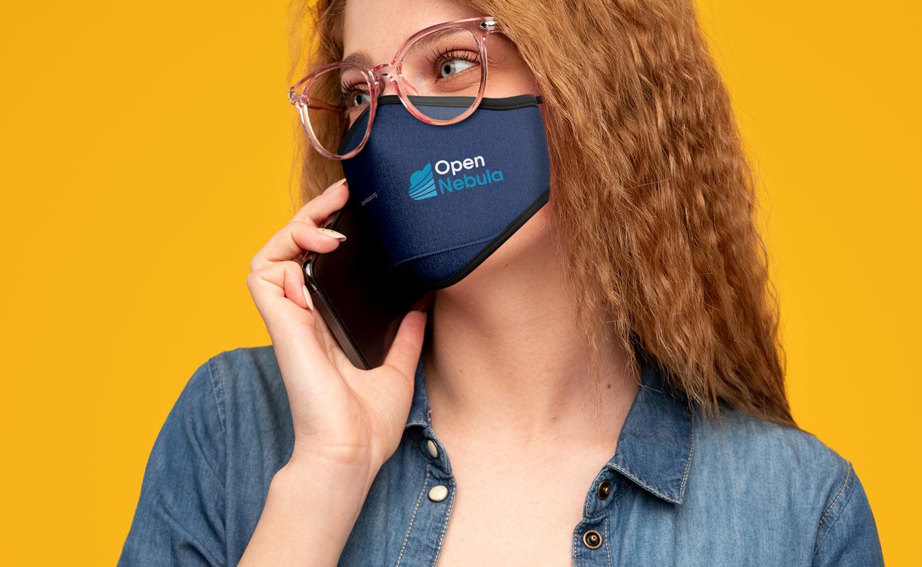 Denim - Mundschutzmasken Bedrucken