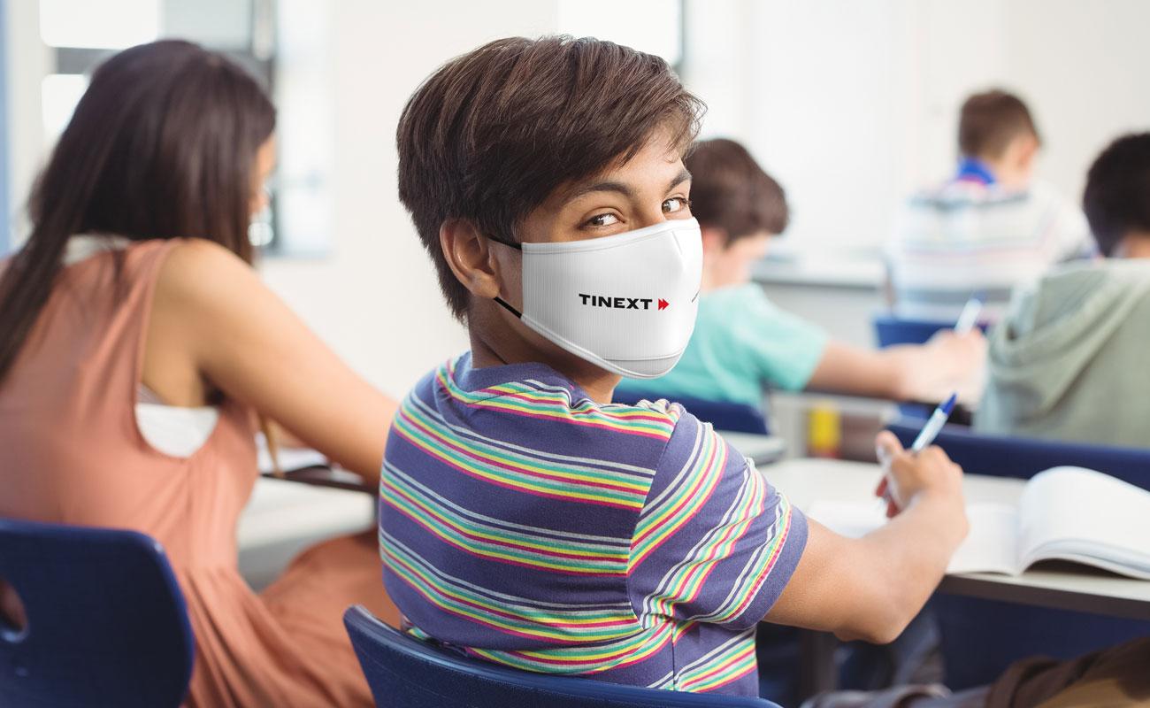 Junior - Schutzmasken mit Logo