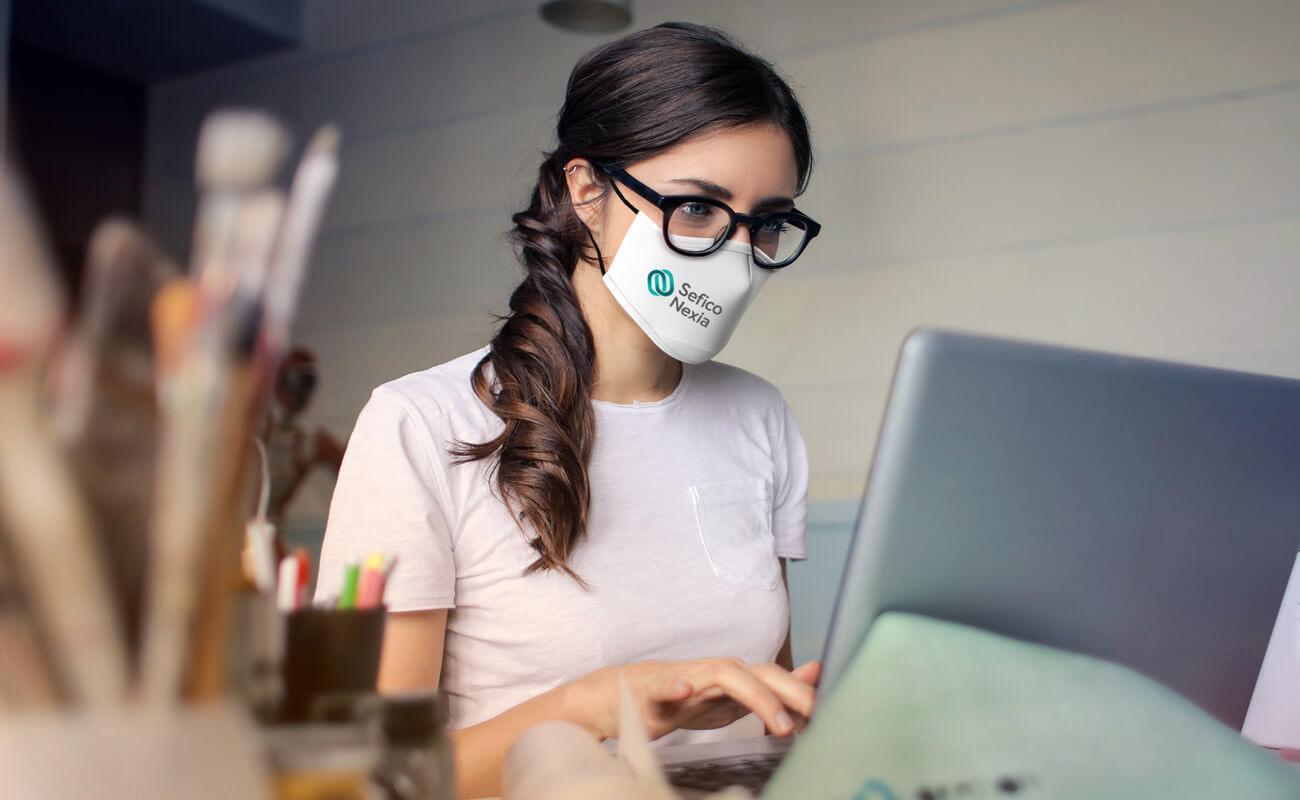Sky - Mundschutzmasken Bedrucken